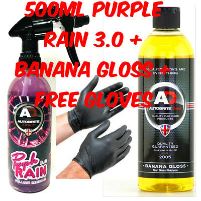 Autobrite Direct 500Ml Banana Gloss Concentrated Car Shampoo+Purple Rain Fallout