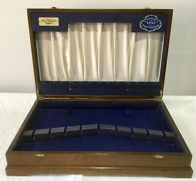 Vintage Wooden Cutlery Canteen Box Display Storage Case Empty Robert F Mosley