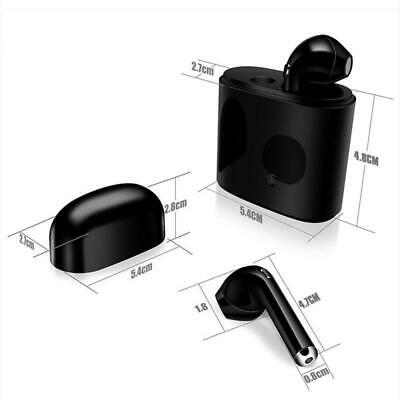 i7 TWS Twins Écouteurs sans Fil Bluetooth V4.2 Stereo Headset Earphone Mini NOIR