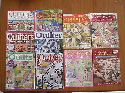 Bulk Quilting Patchwork Stitching Magazines Quilters Companion Down Under Quilts