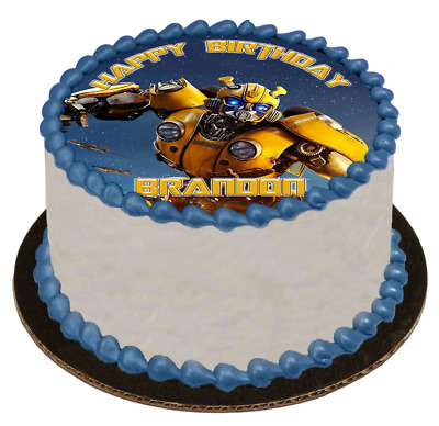 EDIBLE CAKE TOPPER Image Icing Sheet - Bumble Bee Transformers
