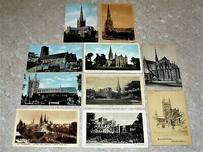 United Kingdom And France, Churches And Cathedrals-10 Post Cards-Anni 1910/30