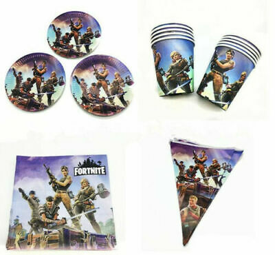 Fortnite Video Game Supplies balloons , banners , tablecloths , sweetbags , cups