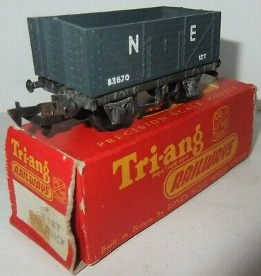 TRI-ANG HORNBY RAILWAYS R10 12T Open Truck N.E. grey (Boxed)              [3932]