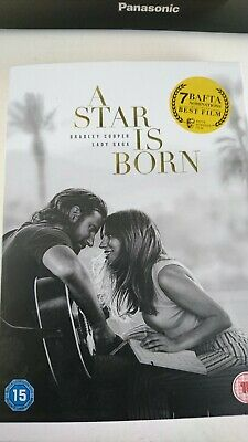 A Star Is Born DVD 2019 Region 2 Lady Gaga Bradley Cooper Like New Condition