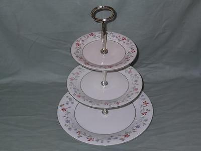 Royal Doulton Florentina Expressions 3-Tier China Hostess Cake Plate Stand