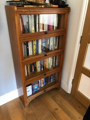 Vintage Oak Glass Fromted Bookcase