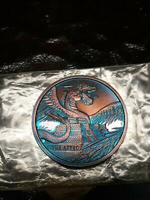 The Aztec 1 oz Silver Round. World of Dragons Series!! 30,000 Minted! Great tone