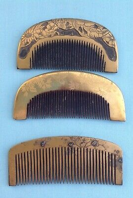 H1421 A Collection of Antique Japanese Kushi Hair Ornaments (3)