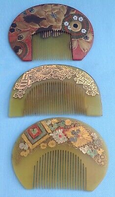 H1417 A Collection of Traditional Antique Japanese Hair Ornaments (3)