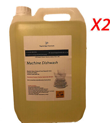DISHWASHER DISH WASHER CLEANER DETERGENT FLUID LIQUID 2 x 5 LTR