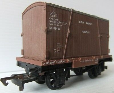 DAPOL BR Conflat wagon with Furniture Container