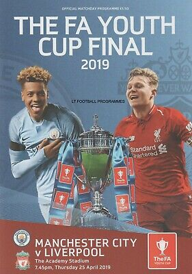 * 2019 FA YOUTH CUP FINAL - LIVERPOOL v MAN CITY (25th April 2019) *
