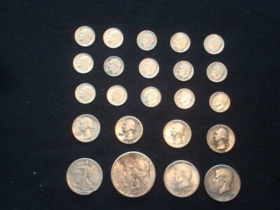$5 Face Value Lot Of U.s. Coins 90% Silver  Mixed Variety L7