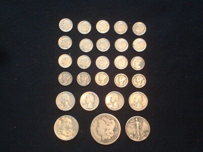 $5 Face Value Lot Of U.s. Coins 90% Silver  Mixed Variety L2
