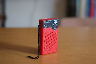 Vintage National Transistor Radio, Red Colour, Retro, Great Working Condition