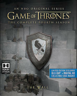 Game Of Thrones: The Complete Fourth Season (Blu-ray) Steelbook & Magnet