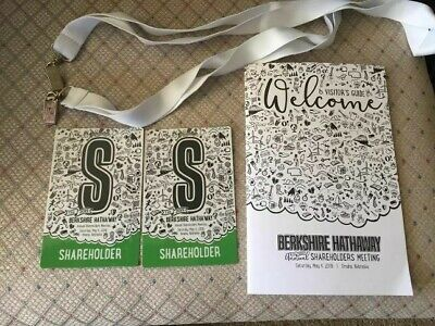 Berkshire Hathaway 2019 Annual Shareholders Meeting Credentials - 2 tickets