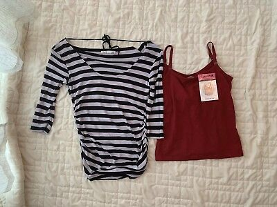 259ea6566a0ec Japanese Weekend And Glamour Mom Nursing Maternity Tops Lot Of 2 NWT NWOT Sz  Sm