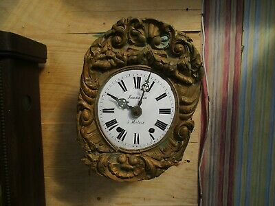 French 'comptoise' Weight Driven Eight Day Wall Clock With Brass Surround (1)