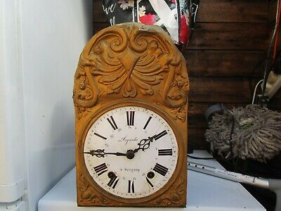 French 'comptoise' Weight Driven Eight Day Wall Clock With Brass Surround (2)