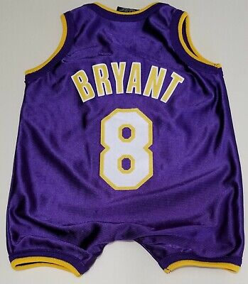 4057f0c8d54 NBA Los Angeles Lakers BRYANT  8 NIKE Baby 1 Piece Romper Jersey Infant 6