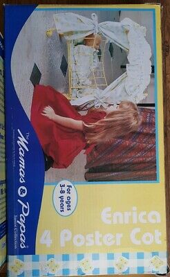 Vintage Mamas & Papas Enrica 4 Poster Dolls Cot Crib Metal NEW IN BOX