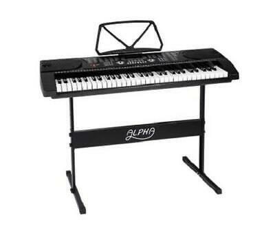 61 Keys Portable LED Electronic Music Piano Keyboard with Adjustable Stand