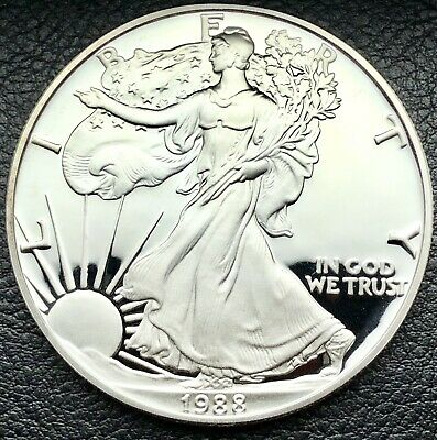 1988-S Proof Silver American Eagle 1 oz .999 Fine Silver Coin (1044)