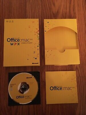 Microsoft Office for Mac Home and Student 2011 (3 Computer/s). Family Pack.