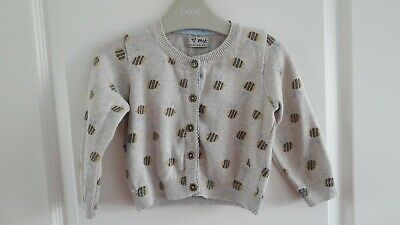 Next girls 12-18 months Bumble Bee Range Cream Beige Cardigan