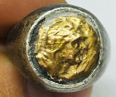 Roman Ancient Silver-Gold Ring R0002