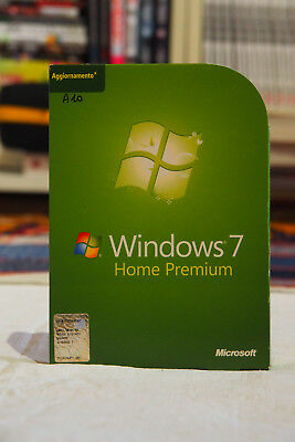 Windows 7 Home Premium Vup Dvd 32Bit Italian Dvd Originali + Coa Key
