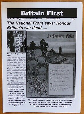Monthly Paper of the National Front - Britain 1st - No. 6 - Nov 2009