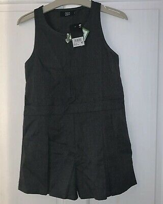 Next Girls Age 6 School Grey Playsuit Uniform Summer Brand New With Tags