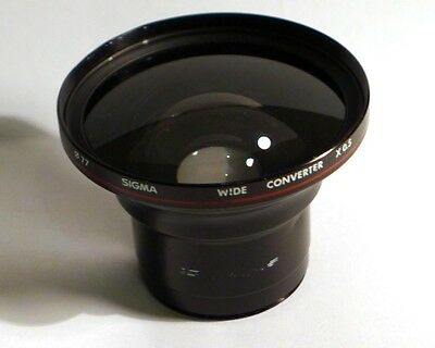 Sigma 0,5x wide angle converter adapter auxiliary lens for 46mm 46 camcorder