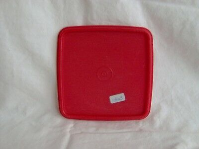 Tupperware Quartet Square Sandwich Keeper Lunch Box Lid Seal #1363 Red