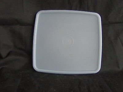 Tupperware Large Square Away Lunch Sandwich Keeper Lid Seal  # 1459 Sheer Blue