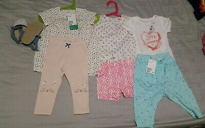 Bundle Baby Girl Clothes Summer 6-12 Months H&M