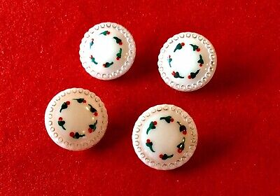 Vintage Matched Set Of Milk Glass Buttons