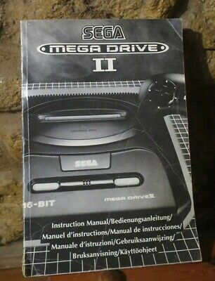 Original vintage computer game Sega Megadrive instruction manual