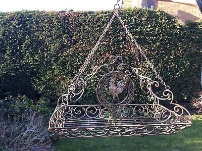 Decorative Wrought Iron Hanging Basket Large Heavy Weight Garden Furniture