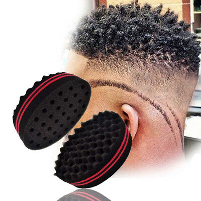 Home Appliance Parts Hard-Working High Quality Double Sided Barber Hair Brush Sponge Dreads Locking Twist Coil Afro Curl Wave