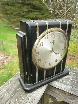 antique Gilbert Art Deco clock Skyscraper