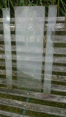 Vienna Clock Case Front And Side Glass Panels x3