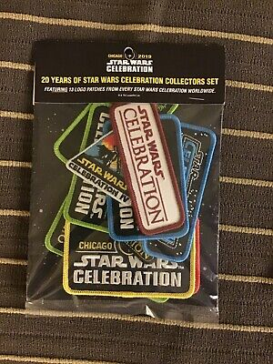 Star Wars Celebration Chicago 2019 - EXCLUSIVE 20th Anniversary 13 Patch Set!