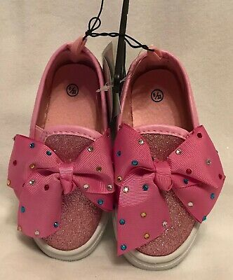 Girls - Slip On - Canvas Shoes/Pumps - Diamonte - Pink - Size 1 - Brand New