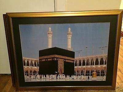 Large Islamic Art Framed Print Of Mecca In Beautiful Frame