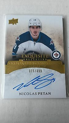 2015-16 EXQUISITE COLLECTION NICOLAS PETAN Rookie Signatures #ERS-NP 75/399 (C)