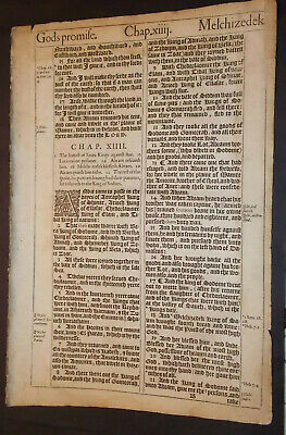 1611 King James Bible-Genesis 14-Melchizedek-King of Salem-Type of Christ